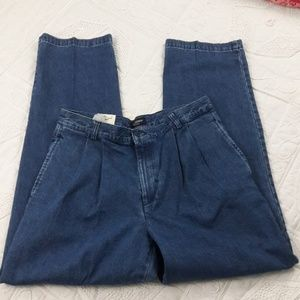 Mens NWT Dockers Pleated Front Dad Jeans 34 x 32